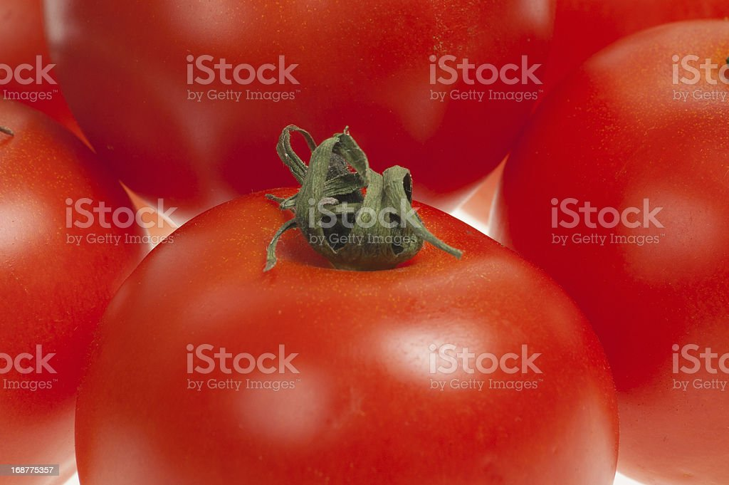 Close up stacked tomatoes royalty-free stock photo