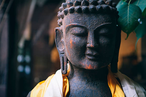 Nahaufnahme, buddha-statue – Foto