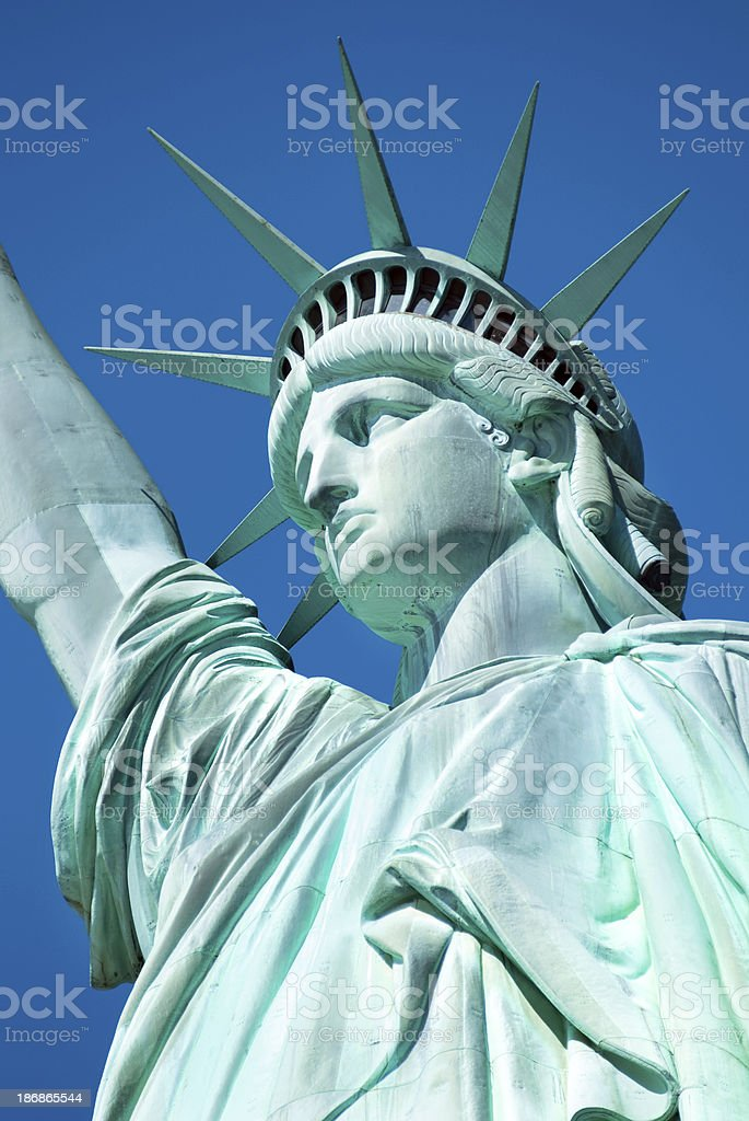 Close up Statue of Liberty royalty-free stock photo