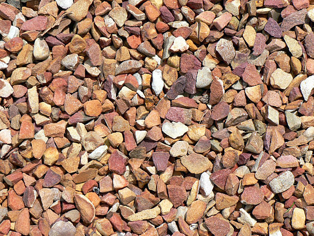 Close up Sticks and Stones stock photo