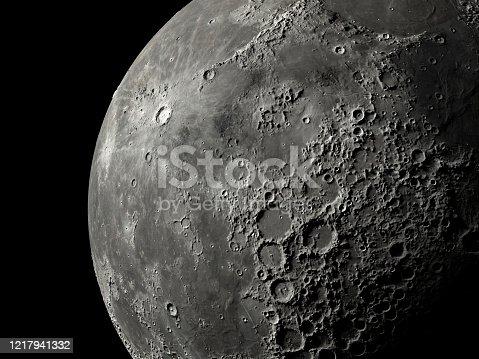 Close up super moon