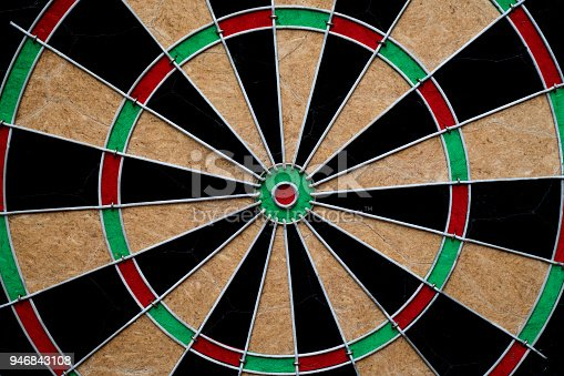 istock close up target dart board center point 946843108