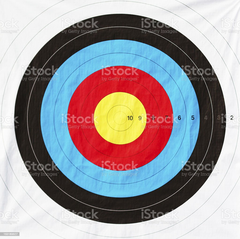 Close up target stock photo