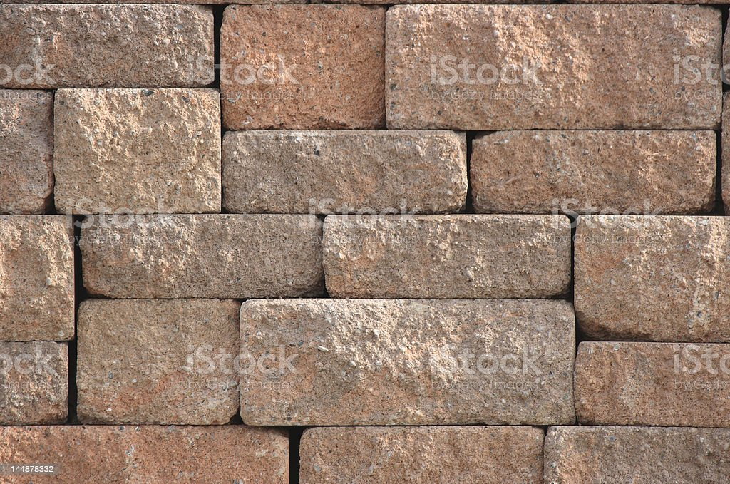 Close up texture of a concrete block wall royalty-free stock photo