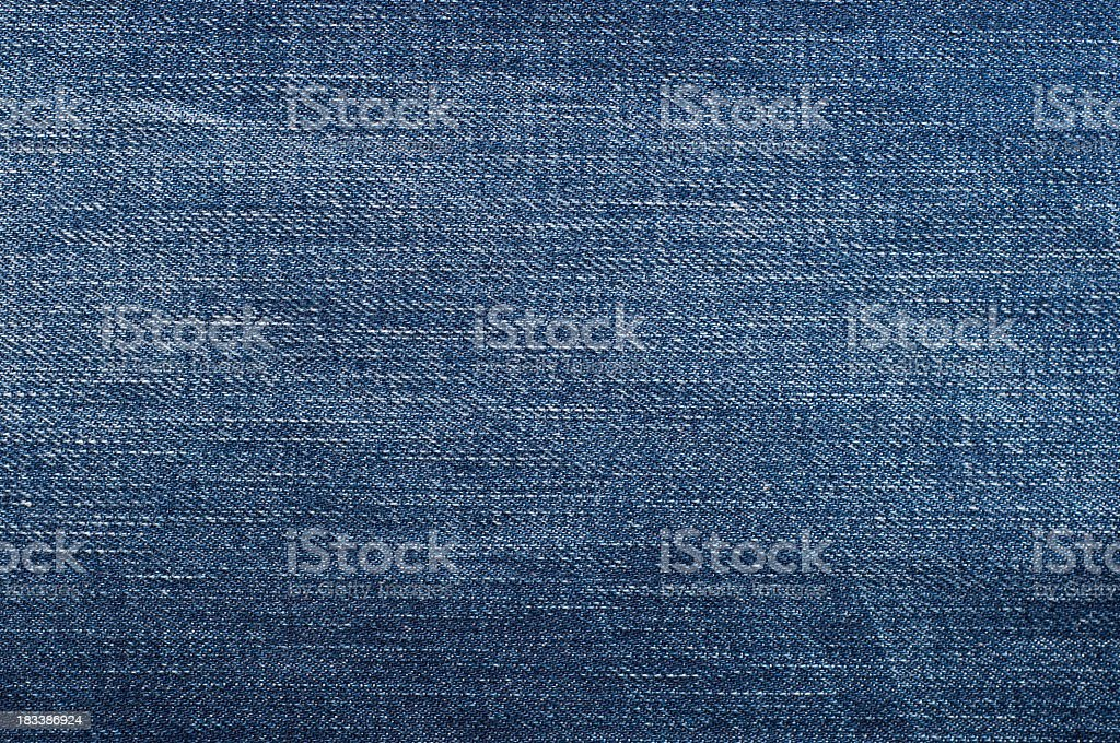 Close up texture of blue denim fabric royalty-free stock photo
