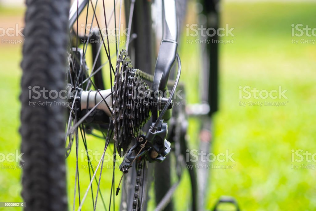 Close up the chain of the bicycle. royalty-free stock photo