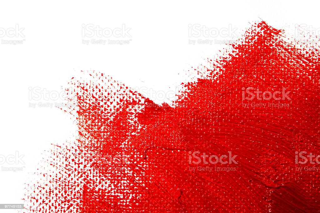 Close up the texture of red paint powder stock photo