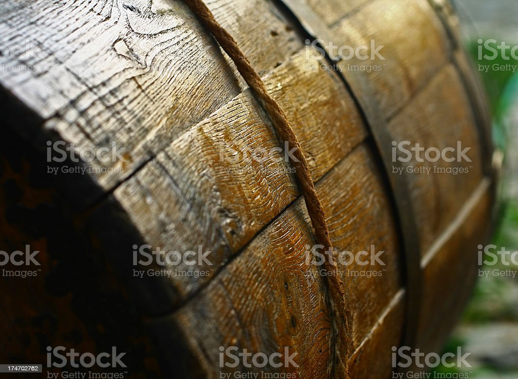 Close up to Barrel royalty-free stock photo