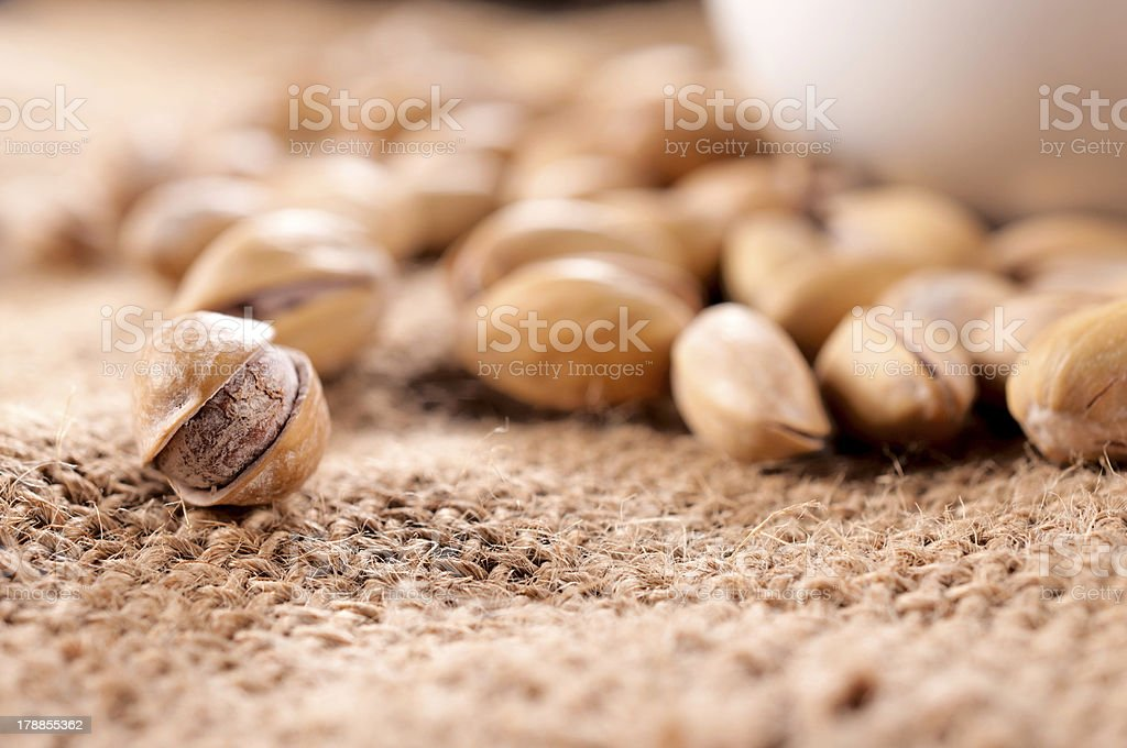 Close up to pistachio royalty-free stock photo
