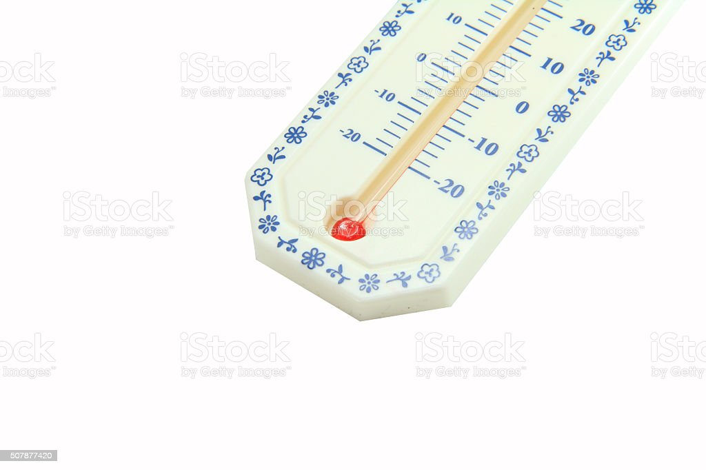 Close up to Thermometer stock photo
