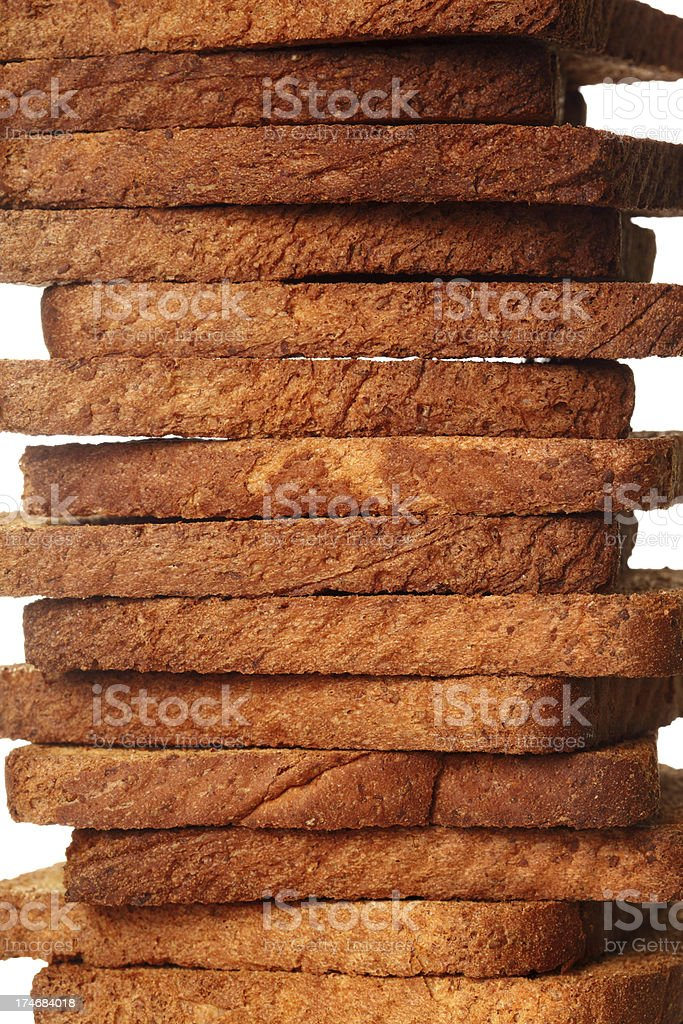Close up toasted bread royalty-free stock photo