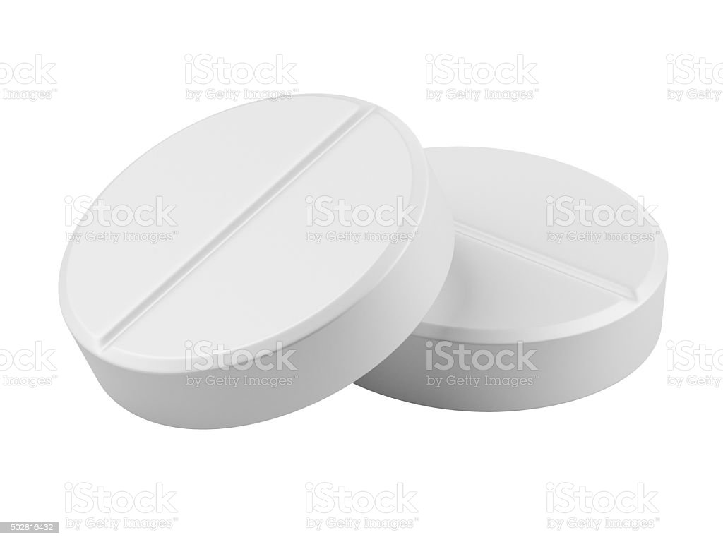 Nahaufnahme zwei medizinische tablets – Foto
