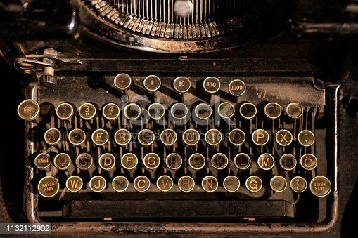istock Close Up Typewriter Keys 1132112902