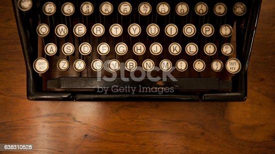 istock Close Up Typewriter Keys 638310528