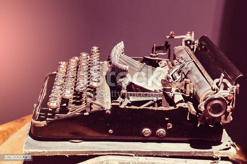 istock Close Up Typewriter Keys 928003036