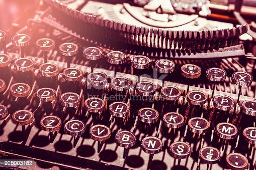 istock Close Up Typewriter Keys 928003182