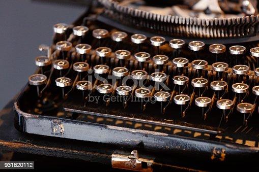 istock Close Up Typewriter Keys 931820112