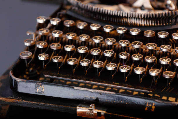 Close Up Typewriter Keys stock photo