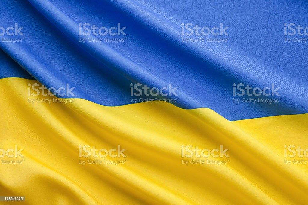 Close up ukranian flag stock photo