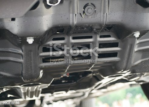 853517784 istock photo Close up under Steering front wheels car 990315186