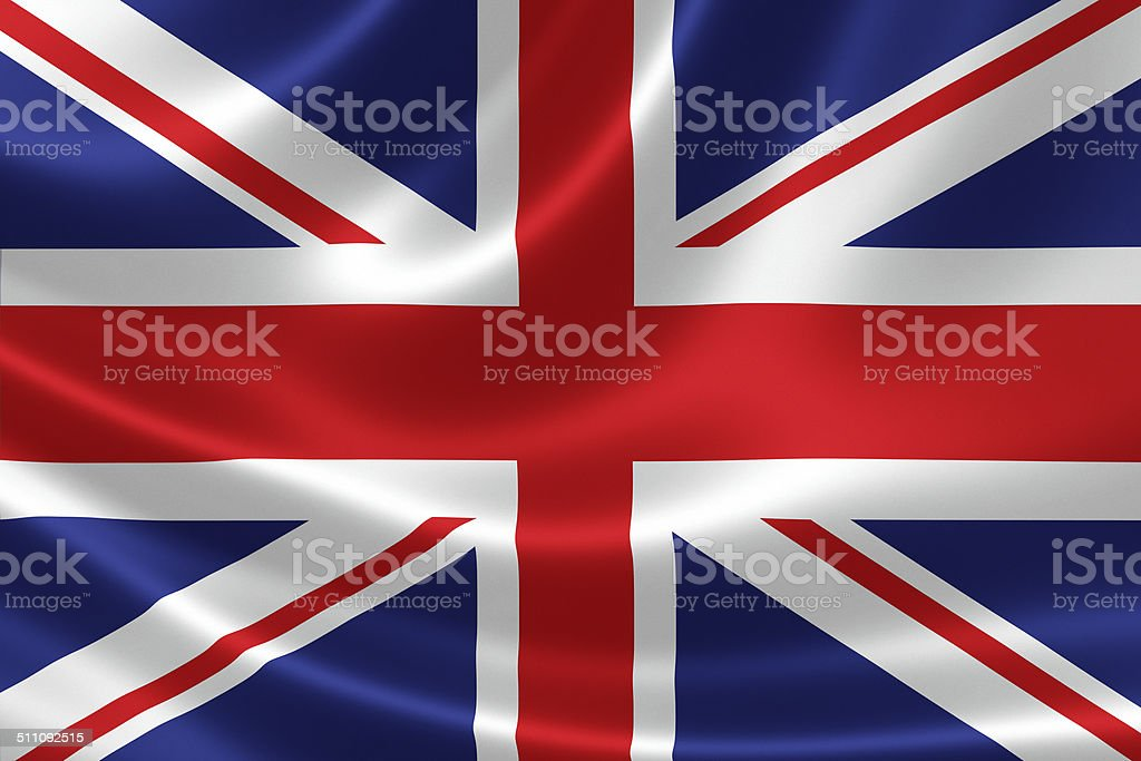 Close up United Kingdom's Flag stock photo