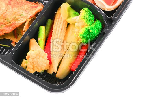istock close up vegetables and egg  in lunch box set on white background 952738032