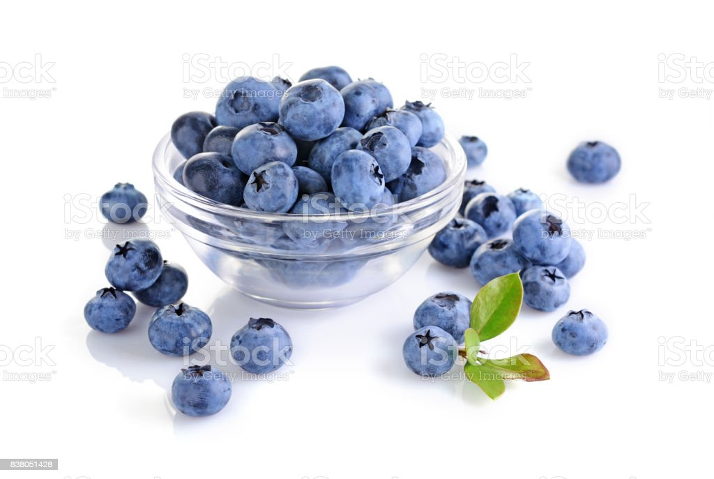 Close up view fresh ripe blueberry stock photo