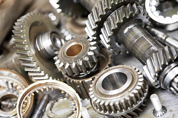 Nahaufnahme von Kfz Motor Getriebe – Foto
