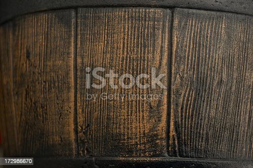 istock Close up view of an old wooden barrel  172986670
