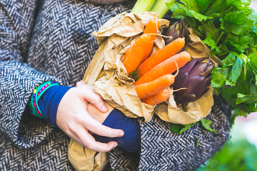 istock Close up view of carrots and some other vegetables 516398654