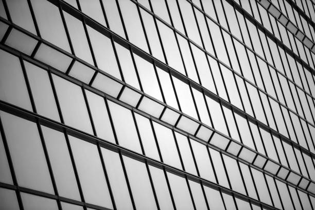 Close up View Of Metal Grate Outside Building stock photo