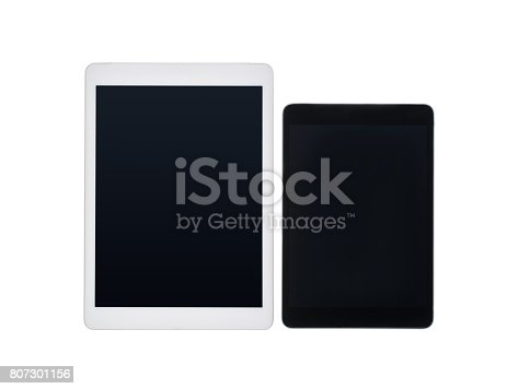 istock close up view of pair of digital tablets with blank screens isolated on white 807301156