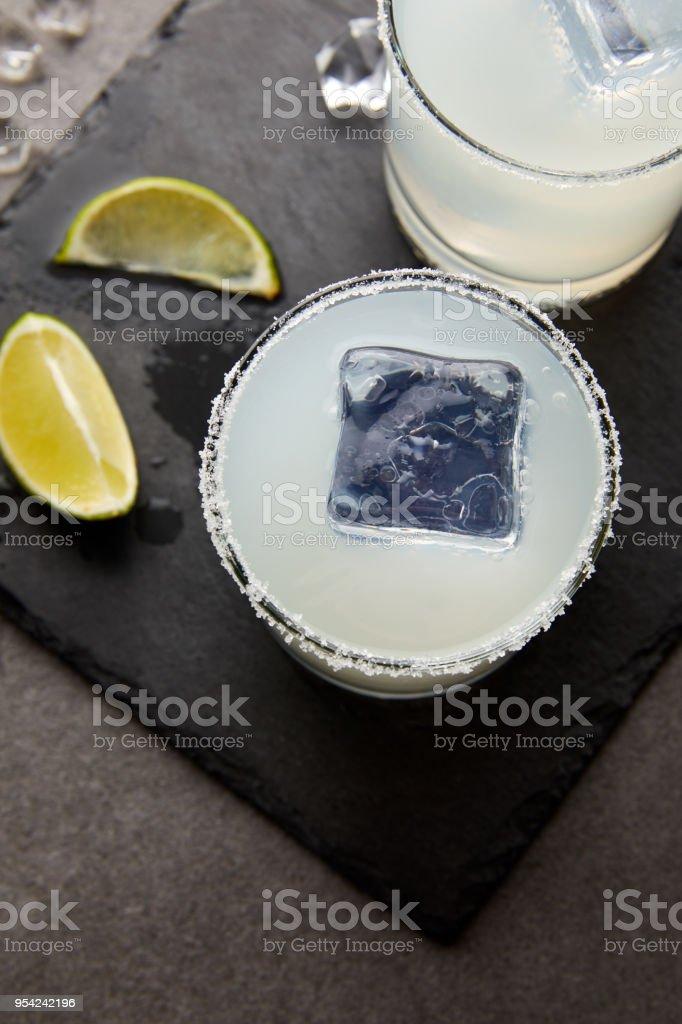 Nahaufnahme Der Erfrischende Sauren Alkohol Caipirinha