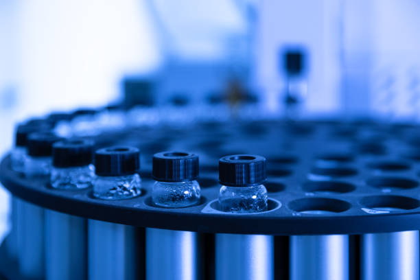 Close up view of the laboratory equipment stock photo