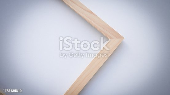 1141440440 istock photo Close up vintage wood frame on white background. 1175435619