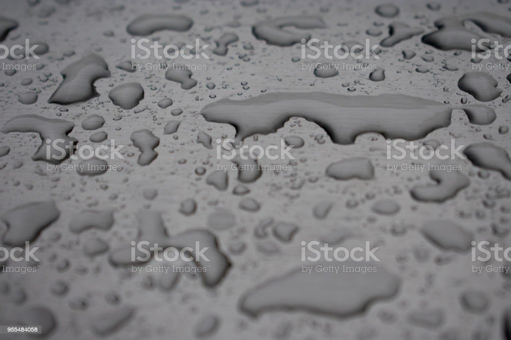 close up water on chrome stock photo