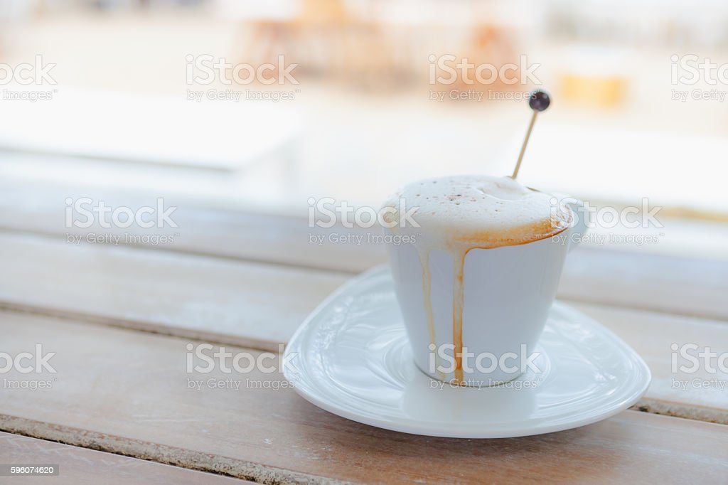 Close up white coffee cup royalty-free stock photo