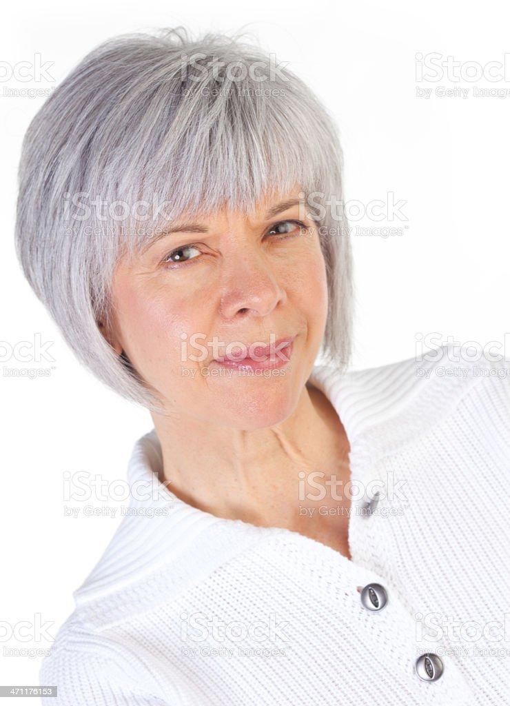 Close up - Woman royalty-free stock photo