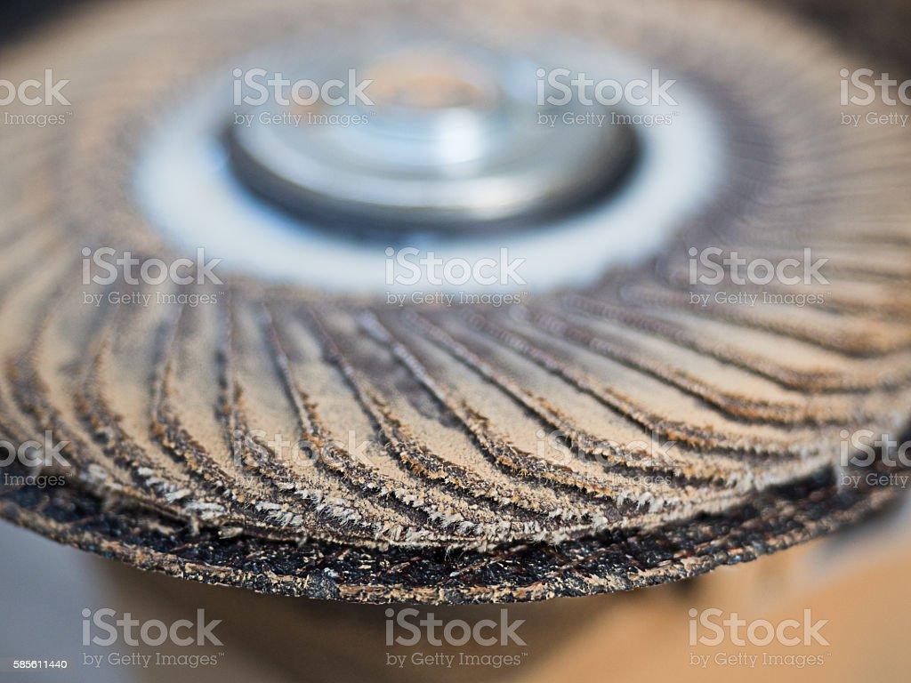 close up wood sander machines stock photo