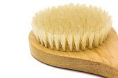 istock Close up wooden body brush isolated 1273331667
