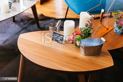 885959540istockphoto Close up Wooden table with words