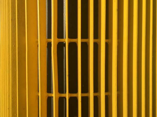 Close up, yellow lines abstract