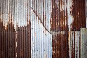 close up zinc rust wall texture background