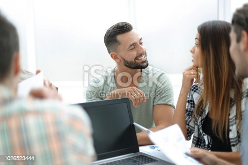 istock close up.business team discussing financial data 1026523444