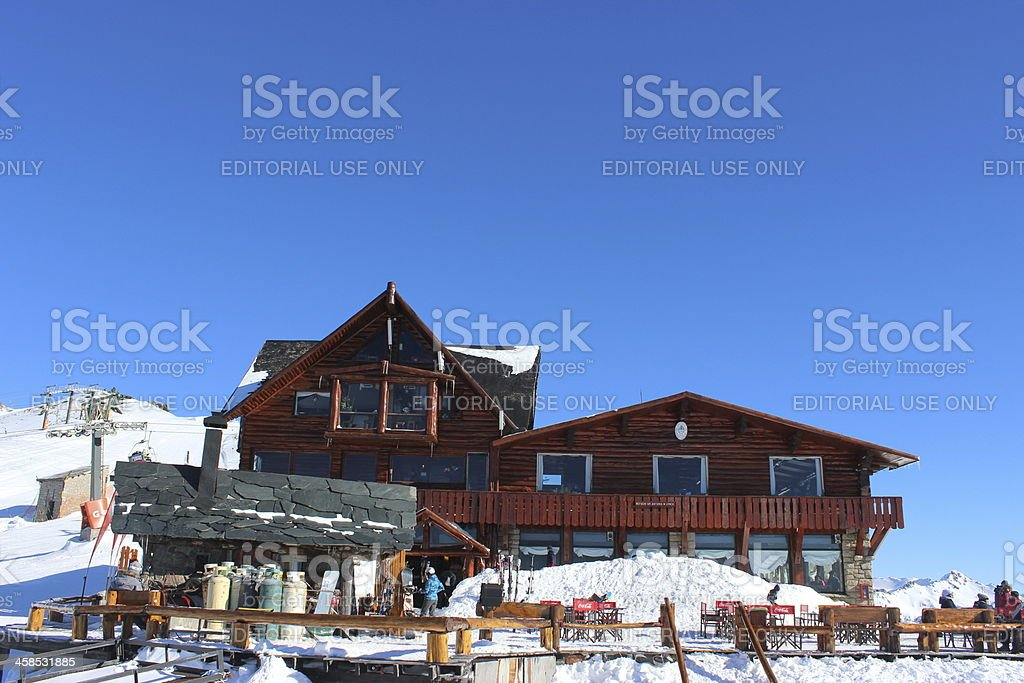 Close view  Lynch Refuge  - Peak of Andes Patagonia royalty-free stock photo