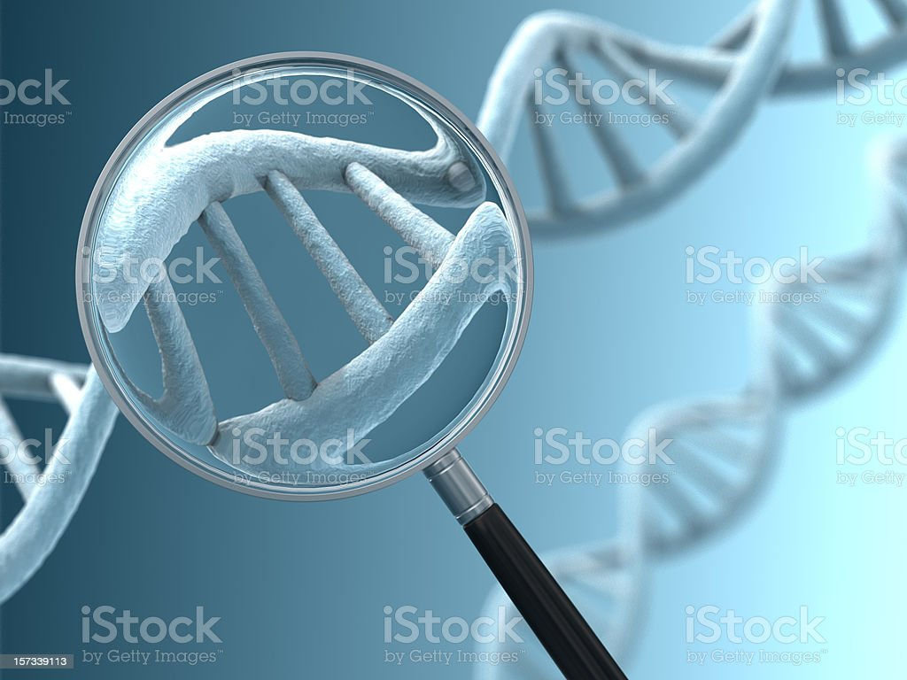 Close View of a DNA Strand royalty-free stock photo
