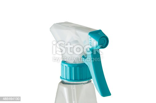 istock Close view of a plastic spray bottle's head 485464130