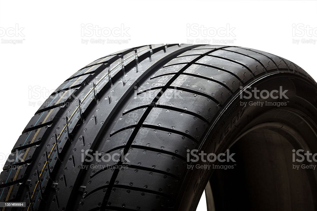 Close view of a tire royalty-free stock photo
