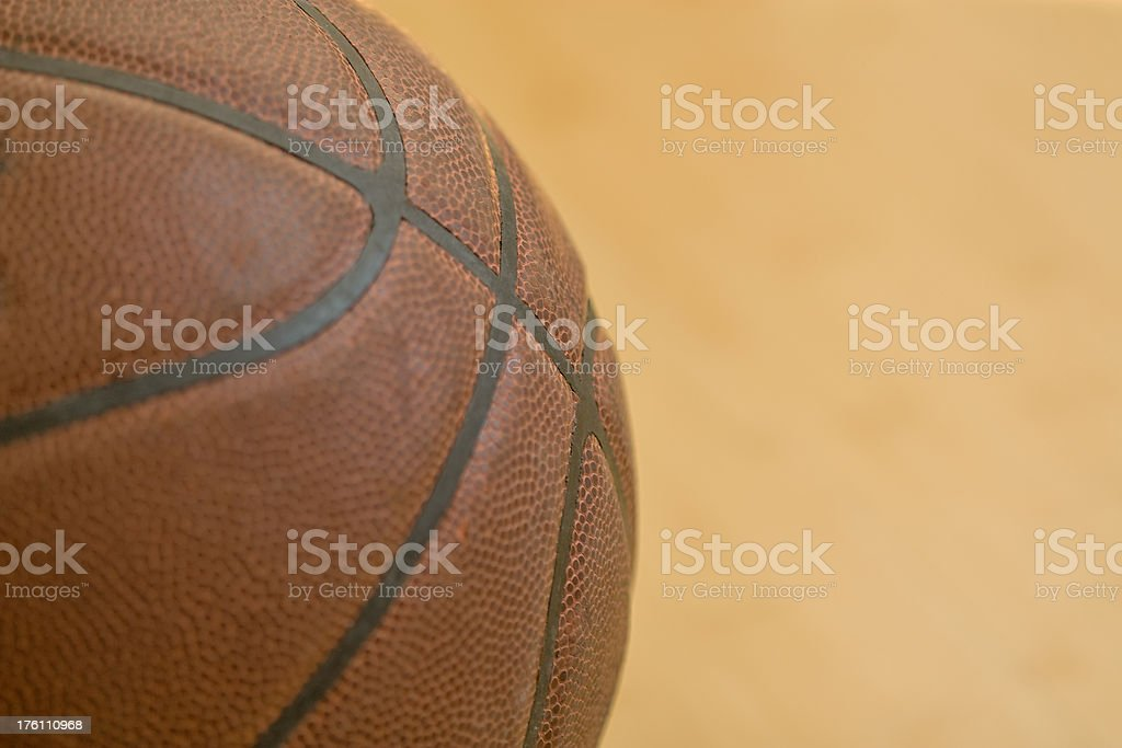 Close view of Basketball royalty-free stock photo