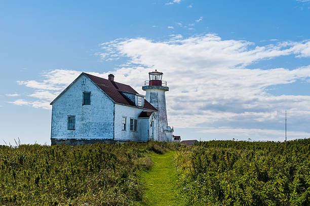 close view of old lighthouse stock photo